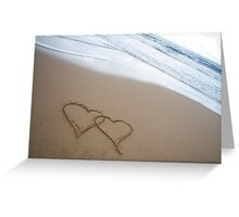 Hearts in the Sand Greeting Card