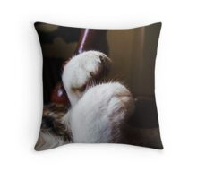 Miss Moxies Sleeping Feet Throw Pillow