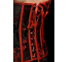 Close up corset Photographic Print