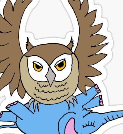 owl elephant Sticker