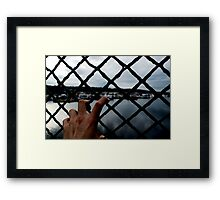 Getting a Grip on Things. Framed Print