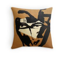 witch (and cat) Throw Pillow