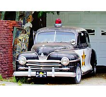 Vintage Police Car Photographic Print