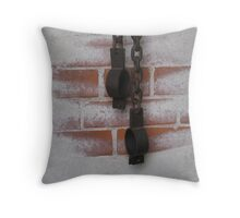chains and torture Throw Pillow