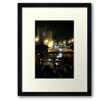 night bikers #1 Framed Print