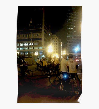 night bikers #2 Poster
