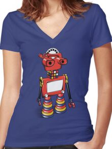 ViewBot 3000 Women's Fitted V-Neck T-Shirt