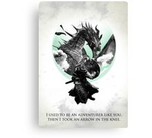 Skyrim - Dragonborn Canvas Print