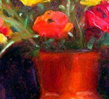 Still Life ~ The Orange Vase Sticker