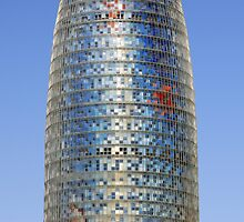 Torre (Tower) Agbar Skyscraper in Barcelona (Spain) by Petr Svarc