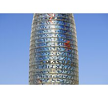 Torre (Tower) Agbar Skyscraper in Barcelona (Spain) Photographic Print