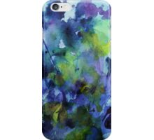 watercolor in purple and green iPhone Case/Skin