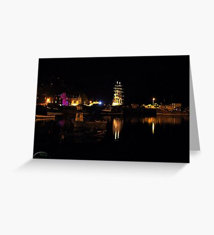 Tobermory Bay At Night Greeting Card