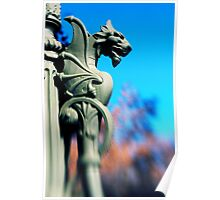 Its My Lamp - A Gothic Dragon Lamp Post Poster