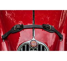 Jaguar Xk140 Roadster Emblem Photographic Print