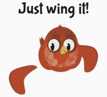 Just Wing It, Bird with a broken Wing Kids Clothes