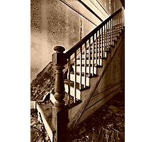 Risky Climb Photographic Print