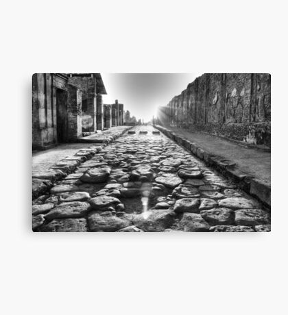 The road to Pompei Canvas Print