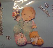 handmade baby card by anaisnais