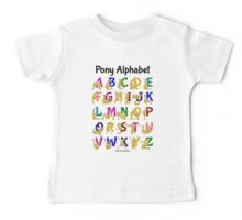 Pony Alphabet Chart, Colourful Baby Tee