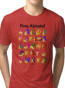Pony Alphabet Chart, Colourful Tri-blend T-Shirt