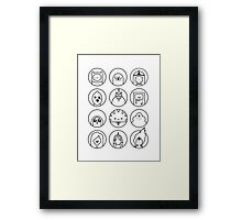 Adventure Time Black & White Framed Print