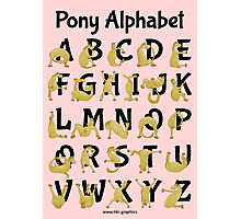Pony Alphabet, Pink Photographic Print