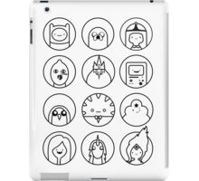 Adventure Time Black & White iPad Case/Skin