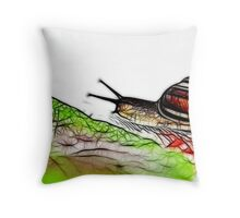 Snail & Letuce Throw Pillow