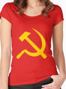 Hammer and Sickle Women's Fitted Scoop T-Shirt