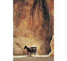 Cart in Siq, Petra, Jordan Photographic Print
