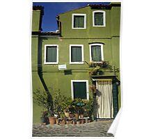 Green House, Burano, Venice, Italy  Poster
