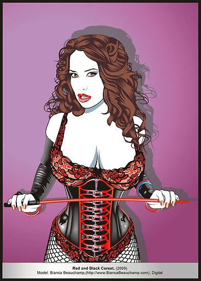 Red and Black Corset by Phaedra