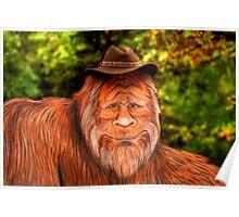 Bigfoot Cowboy Poster