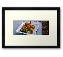 Crispy Prawns with recipe Framed Print