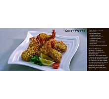 Crispy Prawns with recipe Photographic Print