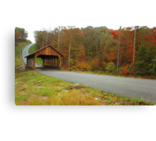 Catoosa Ridge covered bridge Canvas Print