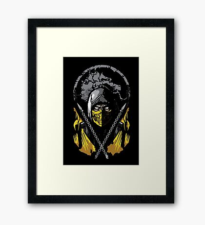 Mortal Kombat - Scorpion Framed Print