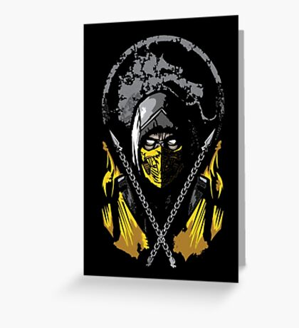 Mortal Kombat - Scorpion Greeting Card