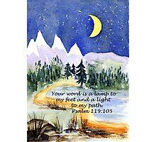 Guidance, Psalm 119:105 Photographic Print