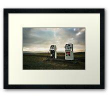 Lomo - Gasstation Framed Print