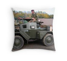 Airbourne Division Military Truck Throw Pillow