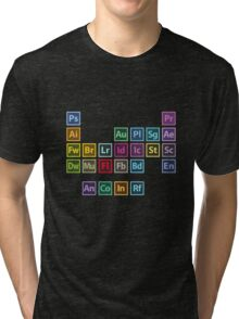 Adobe Table of Elements Tri-blend T-Shirt
