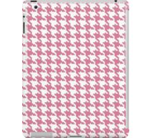 Retro girly pink white houndstooth pattern iPad Case/Skin