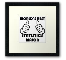 World's Best Statistics Major Framed Print