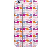Cute pink orange purple colorful leaves pattern iPhone Case/Skin