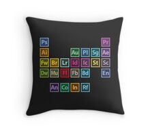 Adobe Table of Elements Throw Pillow