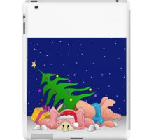 Pigs with tree waiting for Christmas for throw pillows iPad Case/Skin