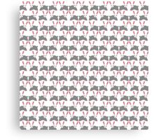 Cute pink and gray bunny rabbit pattern Canvas Print