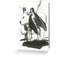 warriors of the black ice Greeting Card